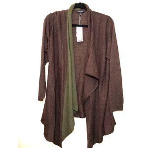 NWT Eileen Fisher Cascading Long Cardigan XL